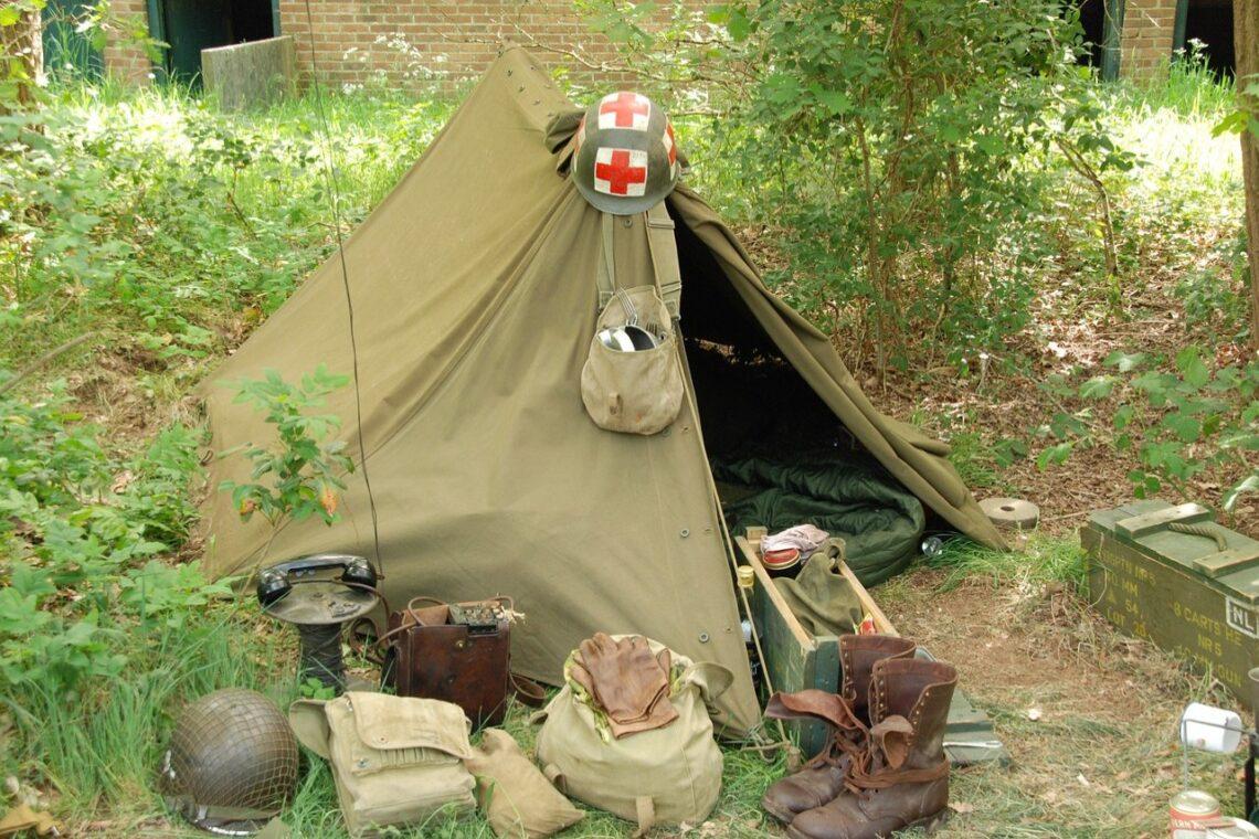 wegańska mielonka biwak namiot